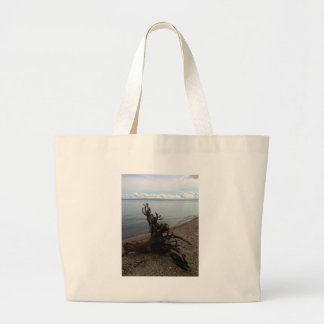 Driftwood on the Beach Tote Bags