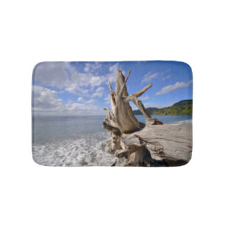 Driftwood On The Shoreline Of French Beach Bath Mat