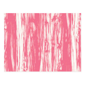 Driftwood pattern - coral pink and white postcard