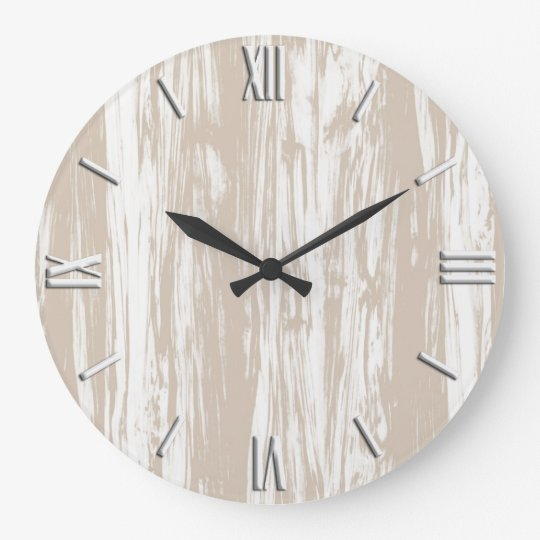 Driftwood pattern - taupe tan and white large