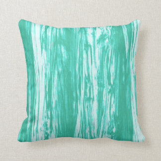 Driftwood pattern - turquoise and white throw pillow