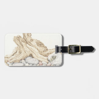 Driftwood & Pebbles Still Life Pencil Luggage Tag