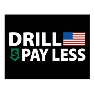 Drill America Pay Less Post Cards