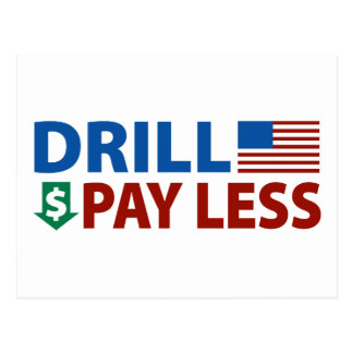 Drill America Pay Less Postcard
