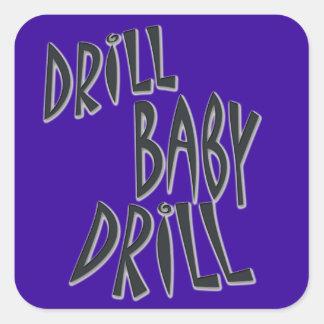 Drill Baby Drill Square Sticker
