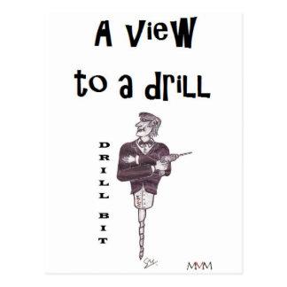 Drill Bit - A View to a drill ! Postcard