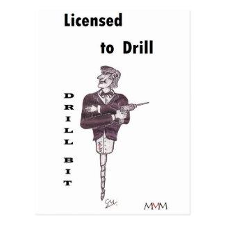 Drill Bit - Licensed to Drill Postcard