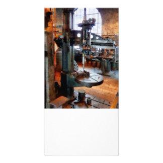 Drill Press Near Window Customized Photo Card