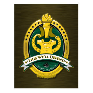 Drill Sergeant Premium Draft Beer Postcard