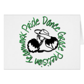Drill Team - Dance Grace Precision Teamwork Pride Greeting Card