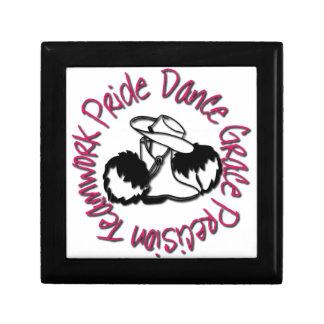 Drill Team - Dance Grace Precision Teamwork Pride Small Square Gift Box