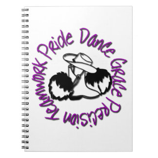 Drill Team - Dance Grace Precision Teamwork Pride Notebook