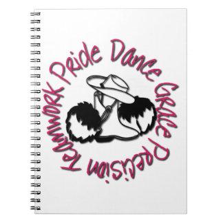 Drill Team - Dance Grace Precision Teamwork Pride Notebooks
