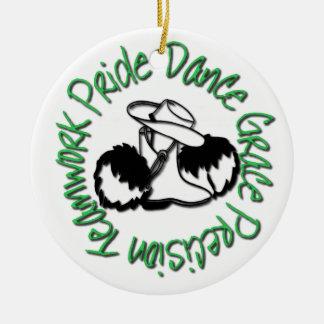Drill Team - Dance Grace Precision Teamwork Pride Round Ceramic Decoration