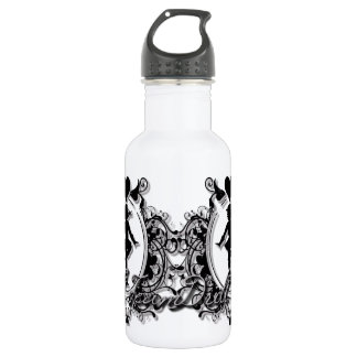 Drill Team Girl in a Heart Frame 532 Ml Water Bottle