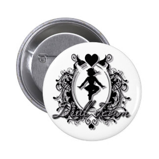 Drill Team Girl in a Heart Frame 6 Cm Round Badge
