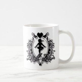 Drill Team Girl in a Heart Frame Coffee Mug