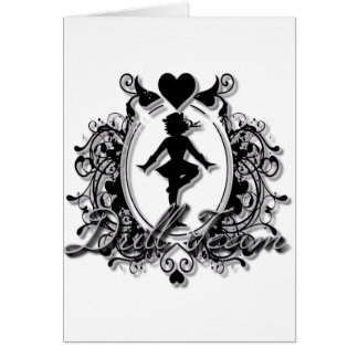 Drill Team Girl in a Heart Frame Greeting Card