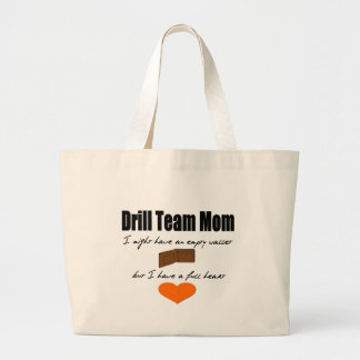 Drill Team Mom - Empty Hearts, Full Wallet Jumbo Tote Bag