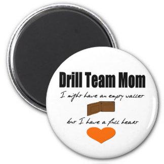 Drill Team Mom - Empty Hearts, Full Wallet 6 Cm Round Magnet