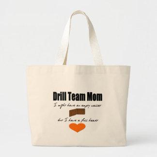 Drill Team Mum - Empty Hearts, Full Wallet Jumbo Tote Bag