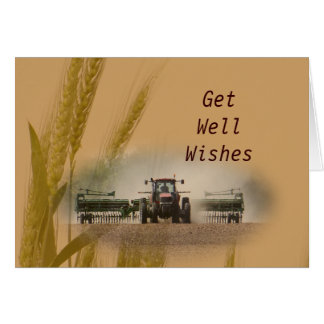 Drilling Kansas Wheat #3- customize any occasion Card