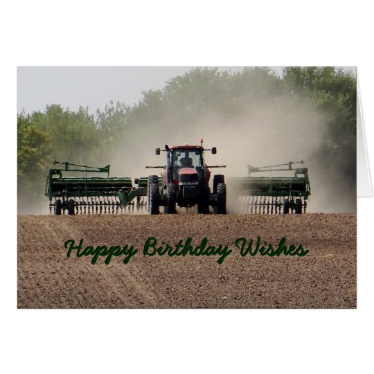 Drilling Kansas wheat 594xx customise any occasion Card