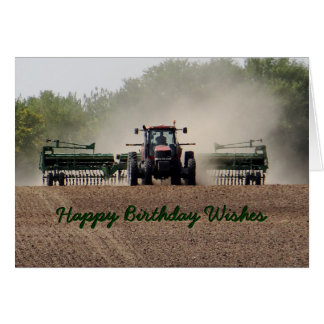 Drilling Kansas wheat 594xx customize any occasion Card