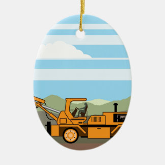 Drilling Rig Tractor Vehicle Machinery Christmas Ornament
