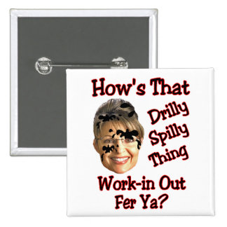 drilly spilly thing 15 cm square badge