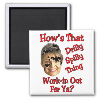 drilly spilly thing square magnet
