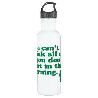 Drink All Day Shirt Shamrock Saint Patrick's Day 710 Ml Water Bottle