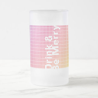 Drink and Be Merry Hidden Message Stein Frosted Glass Mug