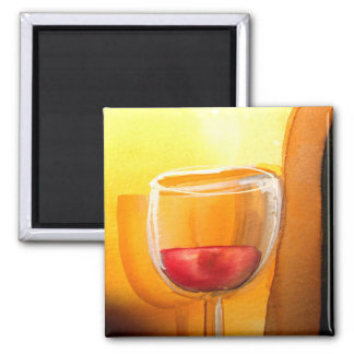Drink and Be Merry Wine Glass Refrigerator Magnet