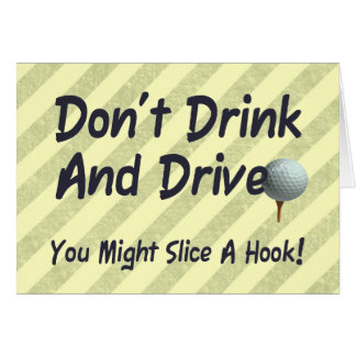 Drink and Drive Card