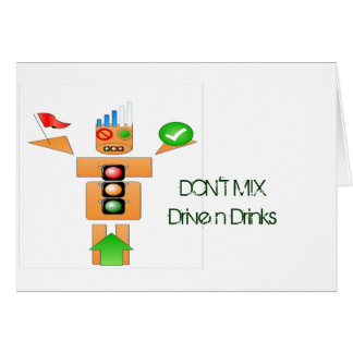Drink and Drive Internet Traffice Greeting Card
