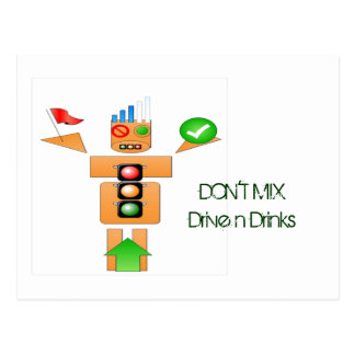 Drink and Drive Internet Traffice Post Cards