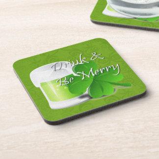 Drink & Be Merry Irish St Patricks Day Coasters