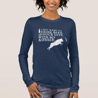 Drink Beer Aussie Long Sleeve T-Shirt