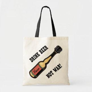 Drink Beer Not War Tote Bags