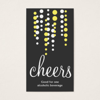 Drink bubbles cheers cocktail beverage ticket gray