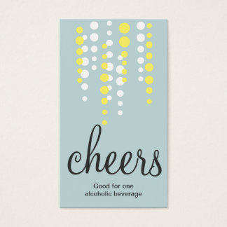 Drink bubbles cheers cocktail beverage ticket teal