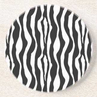 Drink Coasters Zebra Print