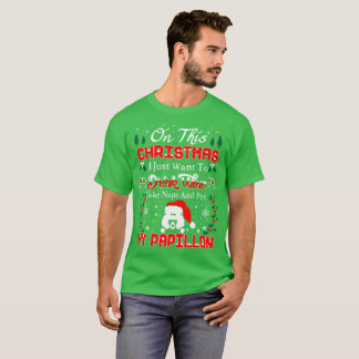 Drink Coffee Pet Papillon Christmas Ugly Sweater