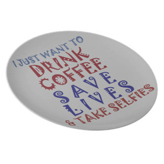 Drink coffee Save lives Dinner Plates