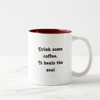 Drink coffee Two-Tone coffee mug