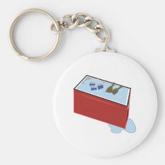 Drink Cooler Basic Round Button Key Ring