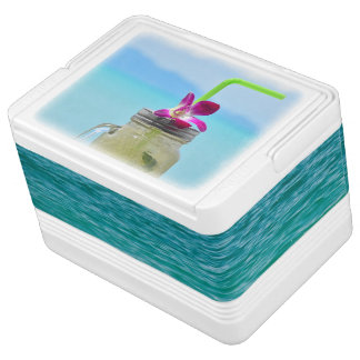 Drink cooler print with cold ice mojito igloo cooler