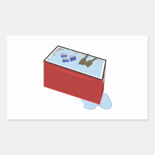 Drink Cooler Rectangle Sticker