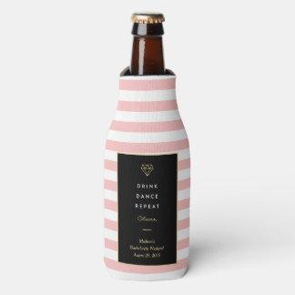 Drink Dance Repeat   Bachelorette Bottle Cooler